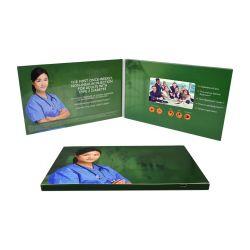 La promotion de la publicité Vidéo Brochure 4,3 pouces de la carte dans le livre de l'écran LCD d'impression catalogue numérique