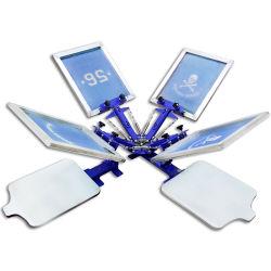 Vier Station-rotierender Handbetrieb-Silk Bildschirm-Drucker der Farben-zwei