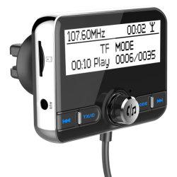 지능적인 Bluetooth 디지털 FM 전송기 MP3 음악 플레이어 차 장비 지원 손 자유로운 외침 TF 카드를 비용을 부과하는 DAB002 차 한덩어리 이중 USB