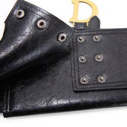 Cintura in vera pelle Girdle da donna pullover decorativo elastico in vita larga cintura