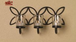 Металлический провод висящих Tealight при свечах с держателя стекла вотиве наружные кольца подшипников