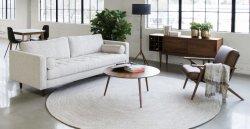 Usine européenne de grande taille de la vente directe de linge de tissu loisirs ensemble canapé de la table