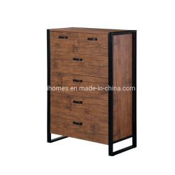 Buffet moderne Armoire de stockage, table de buffet de cuisine avec trois tiroirs de rangement de stockage de deux armoires Brown