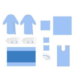 Hochwertige Einweg nicht gewobene chirurgische Dental Drape Pack CE ISO