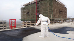 Revêtement en caoutchouc Water-Based Quick-Setting de pulvérisation le bitume revêtement imperméable