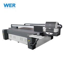 طابعة مسطحة تعمل بالزجاج العريض لطباعة الأشعة فوق البنفسجية