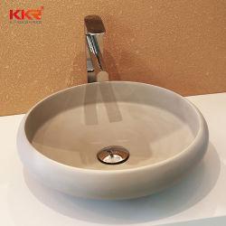Lavabo nero di superficie solido del controsoffitto del dispersore di vanità della stanza da bagno (KKR-2002025)