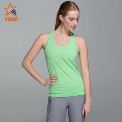 Seco de la moda de OEM colocar ropa deportiva gimnasio yoga Tank Top/Vest/Camiseta Mujer