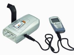 La manivela Dynamo LED de bolsillo Flashight & Cargador de teléfono (LZ-3008)