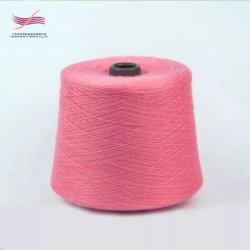 100% polyester filé Fils de couleur ne 20S/2 fils à tricoter teints en fils à coudre recyclé