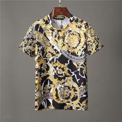 Mercerized Naval superior sin forro de algodón vestido de traje de marinero a rayas de las mujeres Camiseta de manga corta Camisa de la mitad del verano Cuello V T-Shirt