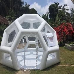 屋外用ドームカバー膨張式ドームテント透明サッカーフットボール 形の泡のキャンプテント