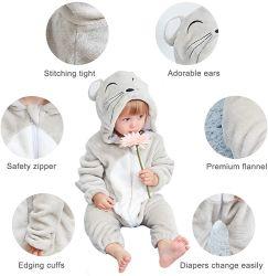 를 가진 마우스 유아 의복 유아 의복은 로고를 주문을 받아서 만든다