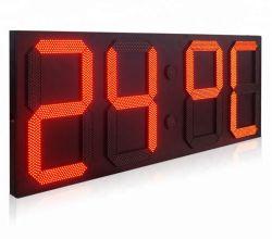شاشة عرض درجة الحرارة LED وشاشة عرض درجة حرارة ساعة LED الخارجية