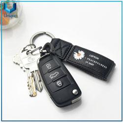 Portachiavi in pelle, portachiavi da auto con logo stampato, portachiavi da auto con design personalizzato in pelle+ e cinturino da regalo