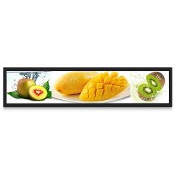 Vídeo de supermercados vários Ecrã LCD digital Pop Faixa de Prateleira Visor LCD Indoor sinais direcionais