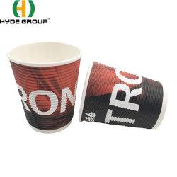 8oz 일회용 리플 월 커피 종이 컵 제품