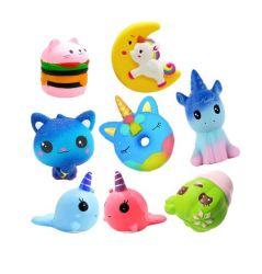 PU Multicolor Squishy rebote lenta forma Animal brinquedo de descompressão