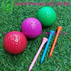 La promotion de l'impression personnalisés Cadeaux colorés 2 pièces Balle de Golf