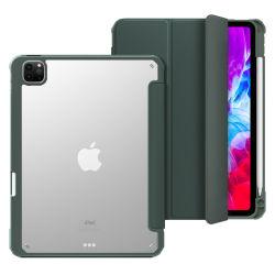 iPad 10.2第8 GENの空気4のiPadのプロ11ケースのための強い磁力PUの革タブレットの箱2020年10.9インチ
