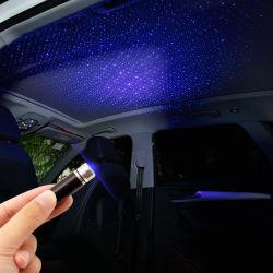 La decoración de la luz de proyector de estrellas USB para coche