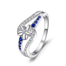925 de echte Zilveren Ring van de Manier van de Bloem van Juwelen Mooie voor de Levering voor doorverkoop van Vrouwen