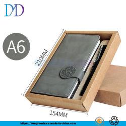 Блокнот 2 шт., A5 ноутбук из натуральной кожи подпись пера набор для бизнеса