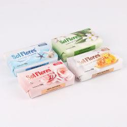 Fabricante Mayoreo Personalizar buena calidad 100g jabón de papel para el cuidado de la piel, jabón para envolver, jabón de baño 100g