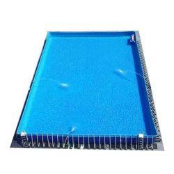 Im Freiengroßes über Bodenmetallrahmen Belüftung-aufblasbarem Swimmingpool
