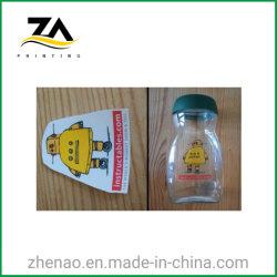 바코드 접착 용지 PVC 투명 라벨 인쇄 음료 병 스티커