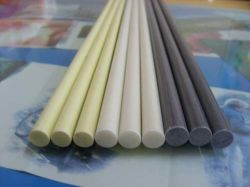 Weiße Länge Durchmesser-4mm 6 des FRP Meter Vorhang-Pole