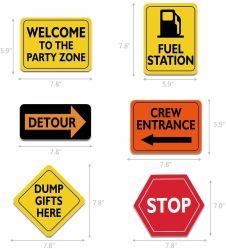 カスタマイズされた設計交通警告標識道の先の道路標識