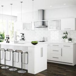 Personalizar un estilo moderno conjuntos completos armarios de cocina Blanco alto brillo lacado de madera plana el diseño del armario de cocina