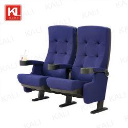 Auditório de dobragem de plástico de metal Igreja Cinema Teatro Mobiliário escolar cadeira (KL-611)