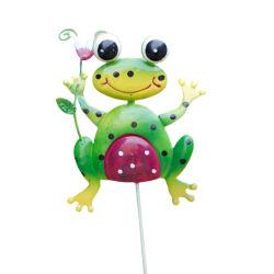옥외 동물성 잔디밭 정원 금속 뛰어오르는 개구리 귀여운 야드 훈장