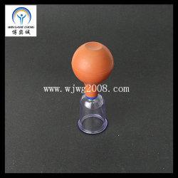 In Verbindung stehendes chinesisches medizinisches manuelles Gummibirne PC Cup-Vakuumabsaugung-Höhlen