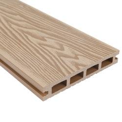 Con protección UV Sleekness jardín de la superficie exterior del panel compuesto de plástico madera WPC techado de madera