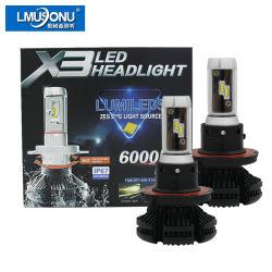 Voiture Lmusonu X3 H13 Phare de voiture à LED lumière LED 25W 6000lm pour l'auto