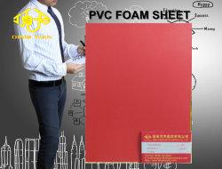 Feuille de mousse en PVC rouge pour le tableau 6-20mm