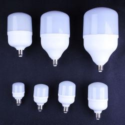 디스트리뷰터 에너지 절약 램프 빛 원료를 위한 새로운 고성능 알루미늄 20W 30W 40W 50W SMD E27 B22 E40 T 모양 LED 전구