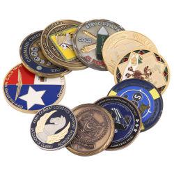中国の昇進のギフトのための工場によってカスタマイズされる金属のクラフト3Dの記念する旧式な銀製の警察の記念品の軍隊の挑戦硬貨