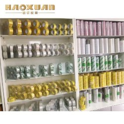 Gold Lieferant Transparentes Verpackungsband mit kundenspezifischen Etikett