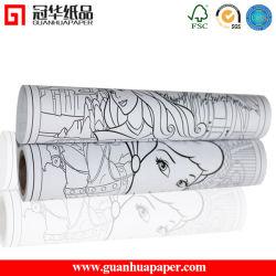 SGS на заводе 80 GSM чертеж печатной платы рулона бумаги