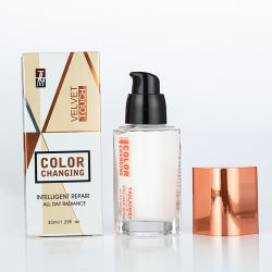 Tlm 35ml professionnel intelligent de contrôle de la réparation d'huile cosmétique Velvet Touch Foundation Changement de couleur