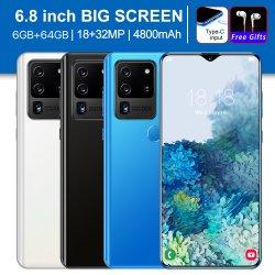 Celular S20 de alta velocidade Ultra 4G Network 6.8 Polegada Phone Smart Phone Fabricantes de Venda Direta Telefone móvel