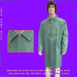 Médecine/chirurgie/microporeuse/PE/PP+PE/PP/SMS/hôpital/laboratoire/patient/médecin/non-tissé en polypropylène de protection blouse de laboratoire jetables jetables de manteau de patient