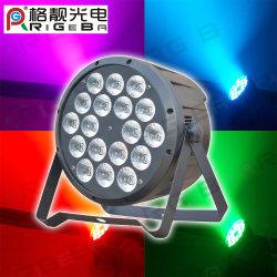 중국 새로운 PAR64 18LEDs * 10W RGBW 4 in 1 DMX 컨트롤 무대 조명 LED 파