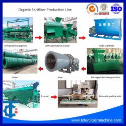 Chinken Dung à plat la granulation des engrais organiques de ligne de production