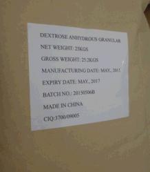 Grau de injeção médicos dextrose anidra