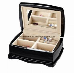 Confezione regalo di gioielli in legno con finitura a piano nera
